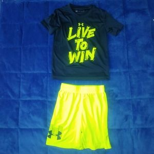 Boys size 5 under armour outfit